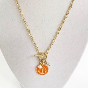 Jewelry - Nautical Anchor Toggle Necklace with Charms NWT